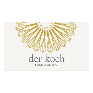 Personal Chef Catering Whisk Einfach und Moderne Pack Of Standard Business Cards