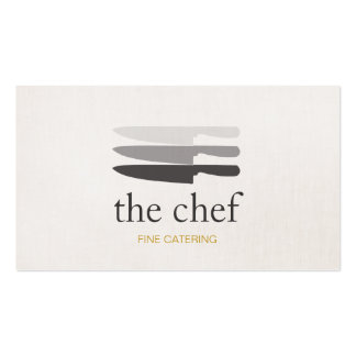 Personal Chef Knife Catering Simple and Modern Pack Of Standard Business Cards
