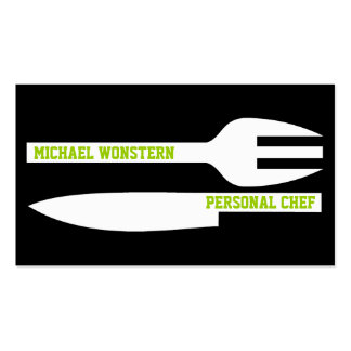 Personal chef minimalist business card black white business card template