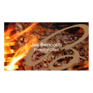 Personal Chef Monogram Grilled Steak Food Service Pack Of Standard Business Cards
