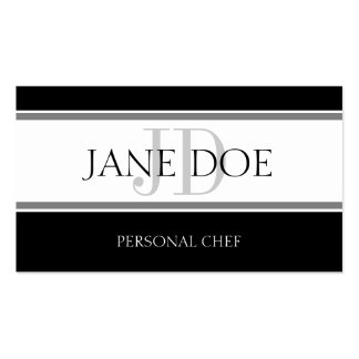 Personal Chef Stripe W/W Business Card