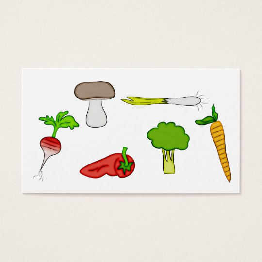 Personal Chef Veggie Vegetables Food Cook Art Business Card