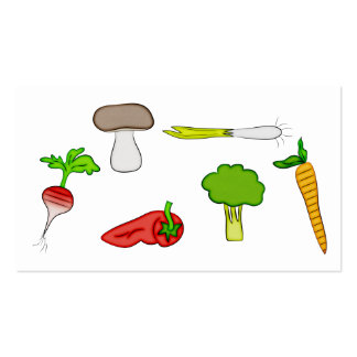 Personal Chef Veggie Vegetables Food Cook Art Pack Of Standard Business Cards