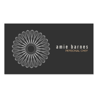 Personal Chef Whisk Logo Black Business Card