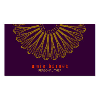Personal Chef Whisk Logo Purple Business Card