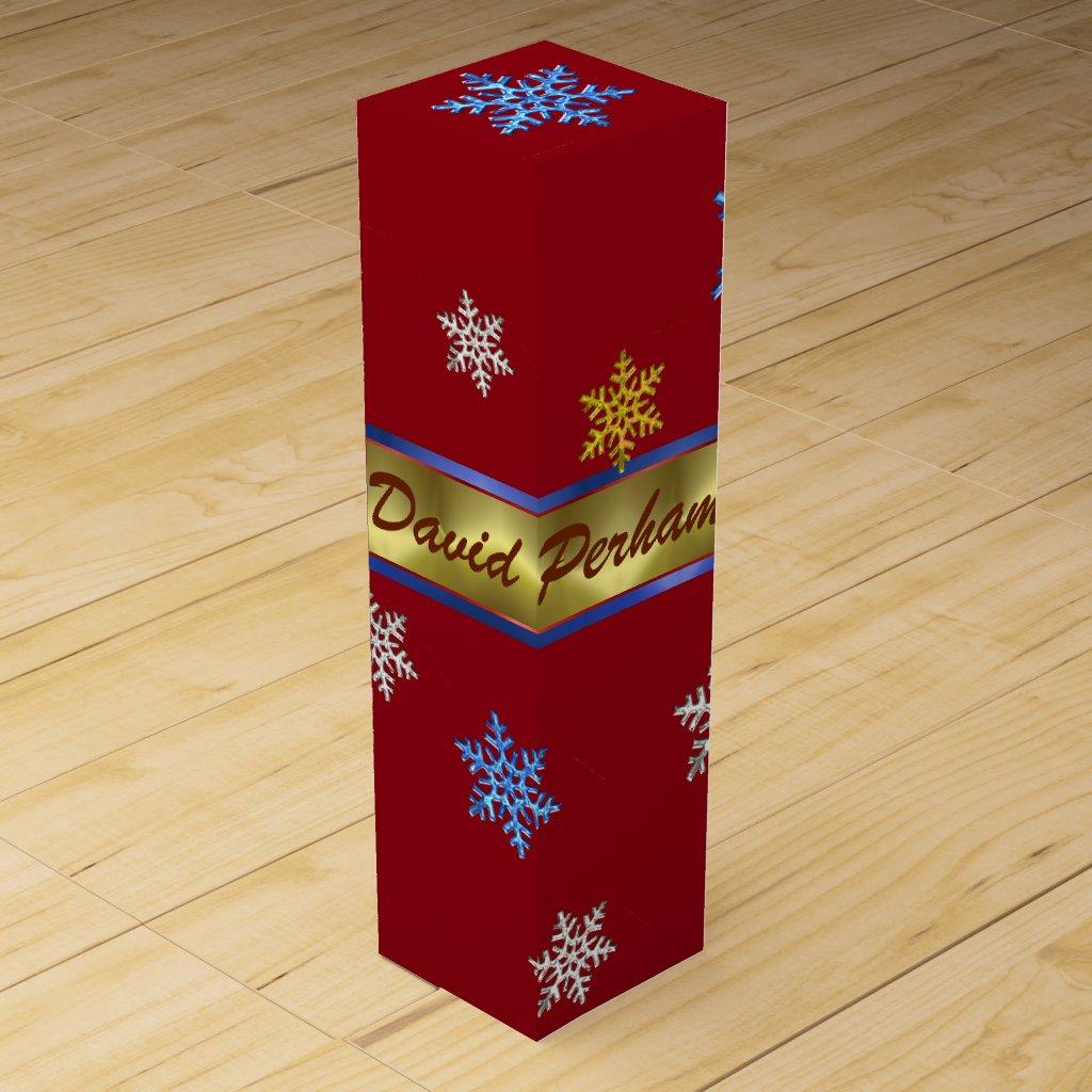 PERSONAL CHRISTMAS WINE GIFT BOX