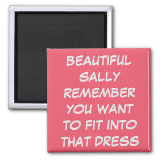 PERSONAL CUSTOM WEDDING DRESS FIT DIET MAGNET