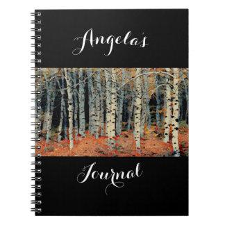 Personal Custom Writers Beautiful Birch Tree 1 Spiral Notebook