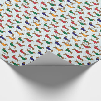 PERSONAL DOG GIFT WRAP, CUSTOM  DACHSHUND WRAP WRAPPING PAPER