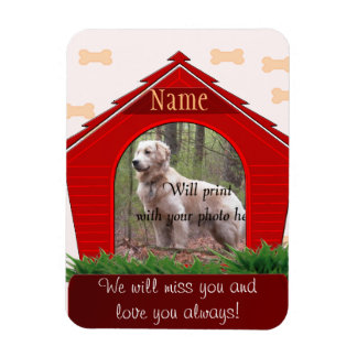 Personal Dog Memorial - Red Dog House Magnet