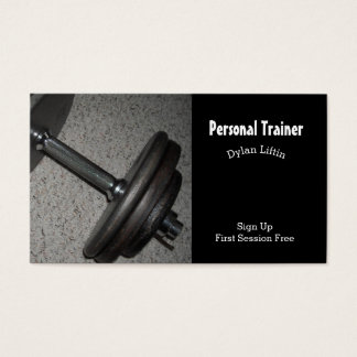 Personal Fitness Trainer Business Card