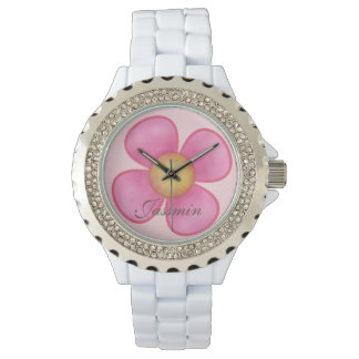 PERSONAL GIFT FOR GIRLS, ELEGANT PINK WRISTWATCH