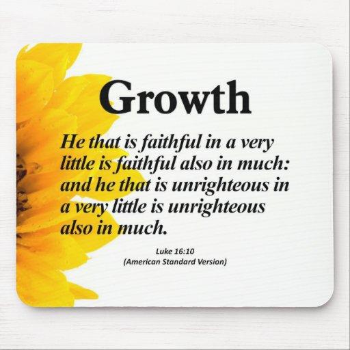 Personal Growth Luke 16:10 Mouse Pad | Zazzle