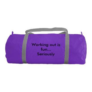 Personal gym bag