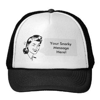Personal Message - Vintage Lady Speech Bubble! Cap