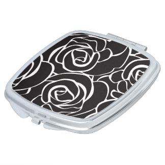 Personal mirror of Make-up Black Roses Vanity Mirror