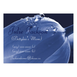 Personal Mommy Card Tulip Blue Raindrops Business Card Templates