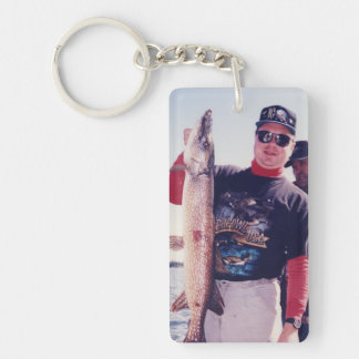 Personal My Lunker Photo Double-Sided Rectangular Acrylic Keychain