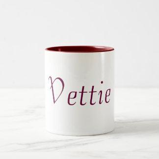 Personal name coffee Mug (Vettie)