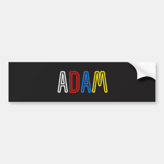 Personal Name Sticker - Adam Bumper Sticker