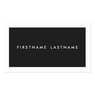 Personal Networking Business Cards in Black
