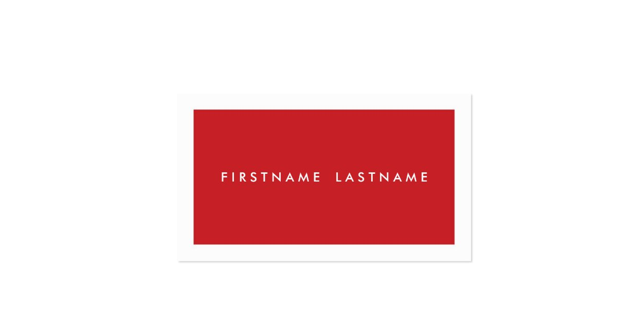 Personal Networking Business Cards in Red