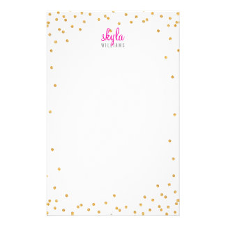 PERSONAL NOTE mini spot confetti bold gold glitter Stationery