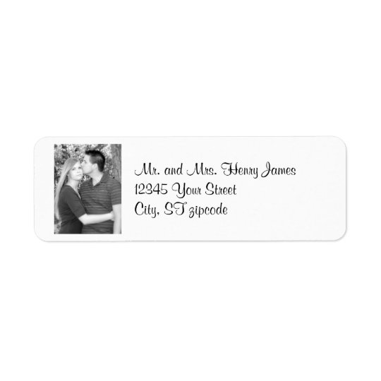 personal photo address label
