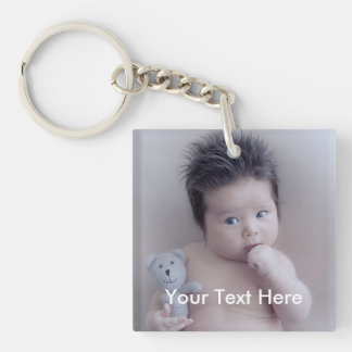 Personal Photo and text  Keychain