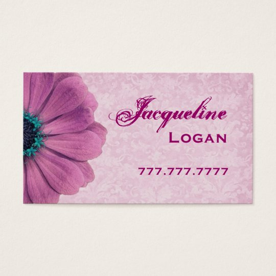 Personal Pink Daisy Business Card