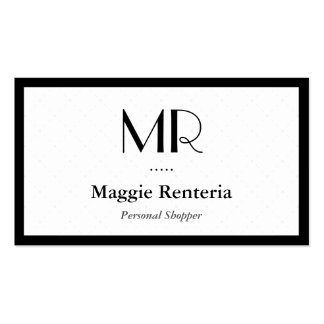 Personal Shopper - Clean Stylish Monogram Pack Of Standard Business Cards