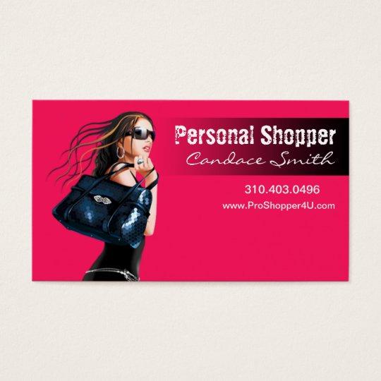 "Personal Shopper, Stylist - ""Glam Fashion Queen"" Business Card"