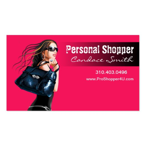 """Personal Shopper, Stylist - """"Glam Fashion Queen"""" Pack Of Standard Business Cards"""