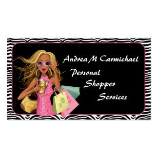 Personal Shopper Zebra Print Business Card
