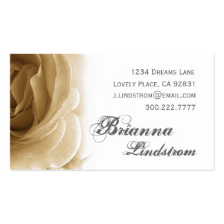 Personal Soft Sepia Rose Business Card Template