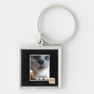 Personal Space Silver-Colored Square Key Ring