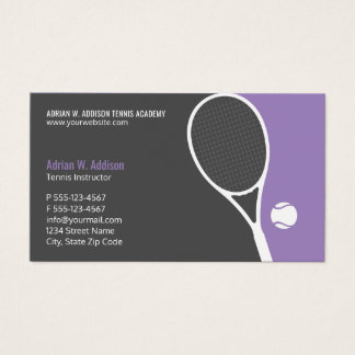 Personal Tennis Coach Instructor Club Appointment Business Card