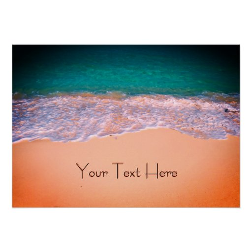 Personal Text Tropical Beach Poster