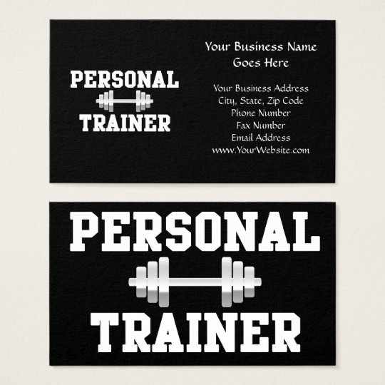 Personal Trainer Black and White Dumbell Training Business