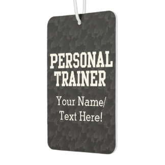 Personal Trainer Black Varsity Car Air Freshener