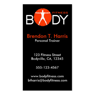 Personal Trainer Body Madness Vertical Biz Cards Pack Of Standard Business Cards