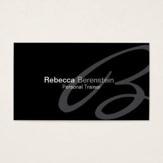 Personal Trainer Business Card Fancy Monogram