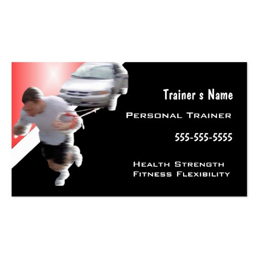 Personal Trainer Double Sided Standard Business Cards
