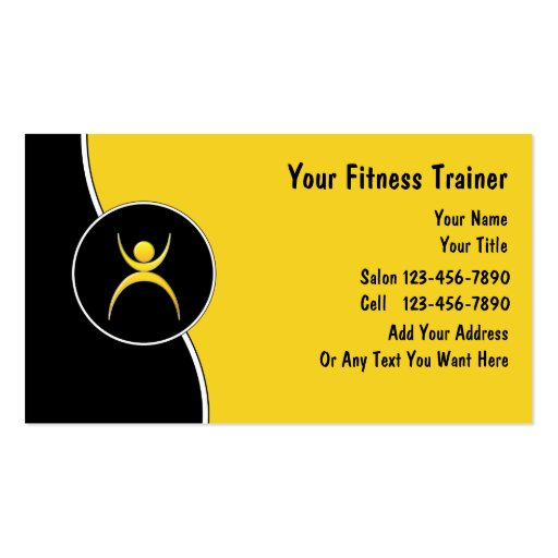 Personal trainer business cards zazzle for Brother business card templates