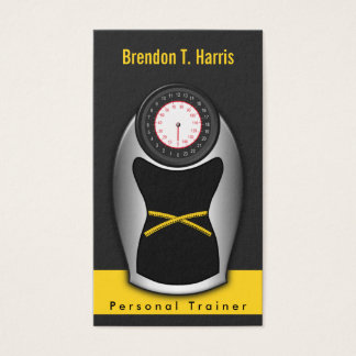 Personal Trainer Business Cards - Black and Yellow