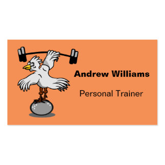 Personal Trainer Chicken Lifting Weights Pack Of Standard Business Cards