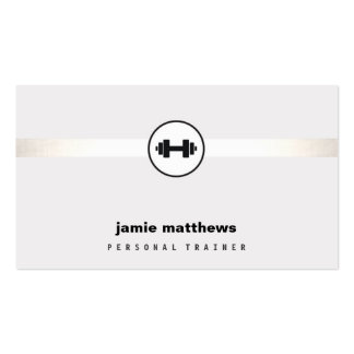 Personal Trainer Dumbbell Logo Fitness Instructor Pack Of Standard Business Cards