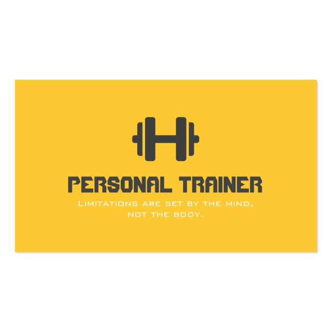 Personal trainer exercise gym fitness business business card template cheaphphosting Image collections