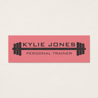 Personal Trainer Fitness barbell weight Mini Business Card