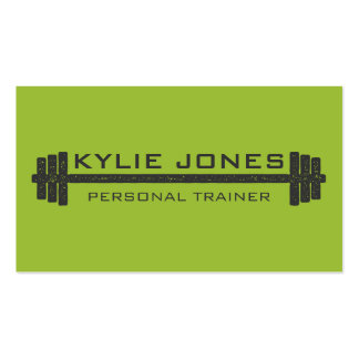 Personal Trainer Fitness barbell weight Pack Of Standard Business Cards